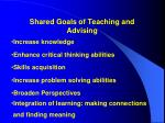 shared goals of teaching and advising