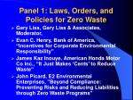 panel 1 laws orders and policies for zero waste