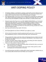 anti doping policy