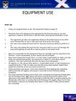equipment use