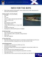 info for the boys