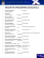 regatta program 2010 2011
