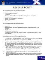 revenue policy