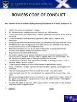 rowers code of conduct