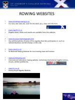 rowing websites