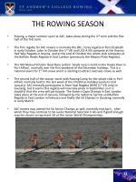 the rowing season