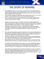 the sport of rowing1