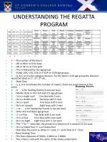 understanding the regatta program