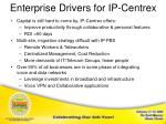 enterprise drivers for ip centrex