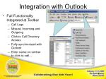 integration with outlook