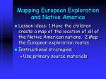 mapping european exploration and native america