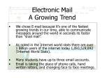 electronic mail a growing trend