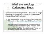 what are weblogs codename blogs1