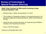 bureau of technology special programs sourcing2