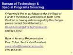 bureau of technology special programs sourcing7
