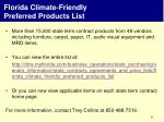 florida climate friendly preferred products list