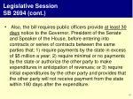 legislative session sb 2694 cont