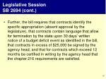legislative session sb 2694 cont1