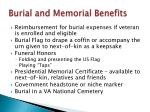 burial and memorial benefits