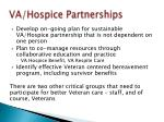 va hospice partnerships