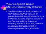violence against women un general assembly definition