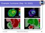 example hurricane sep 18 2003
