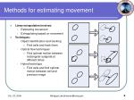 methods for estimating movement