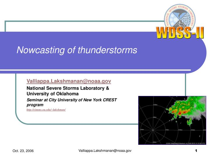 nowcasting of thunderstorms n.