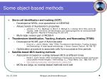 some object based methods
