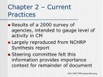 chapter 2 current practices