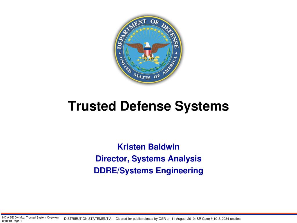 trusted defense systems l.