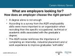 what are employers looking for how does an employer choose the right person