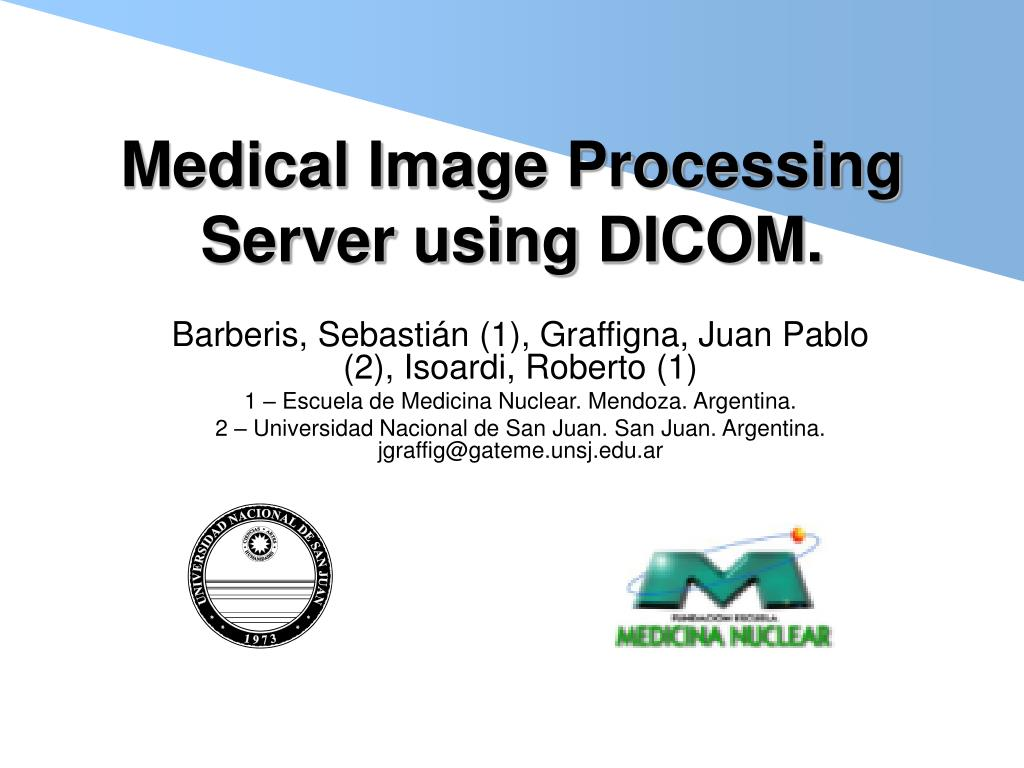 medical image processing server using dicom l.