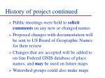 history of project continued1