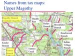 names from tax maps upper magothy