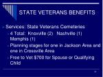 state veterans benefits