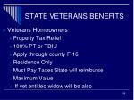 state veterans benefits5