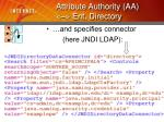 attribute authority aa ent directory16