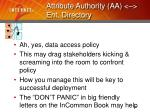 attribute authority aa ent directory19