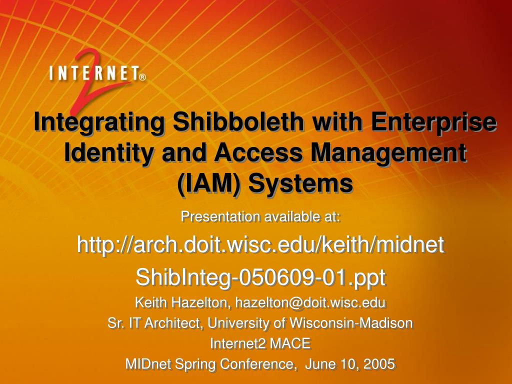 integrating shibboleth with enterprise identity and access management iam systems l.