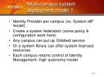 multi campus system deployment model 127
