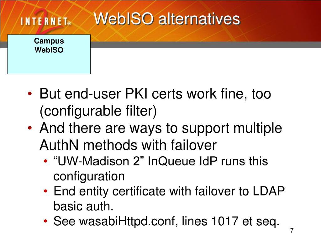 WebISO alternatives