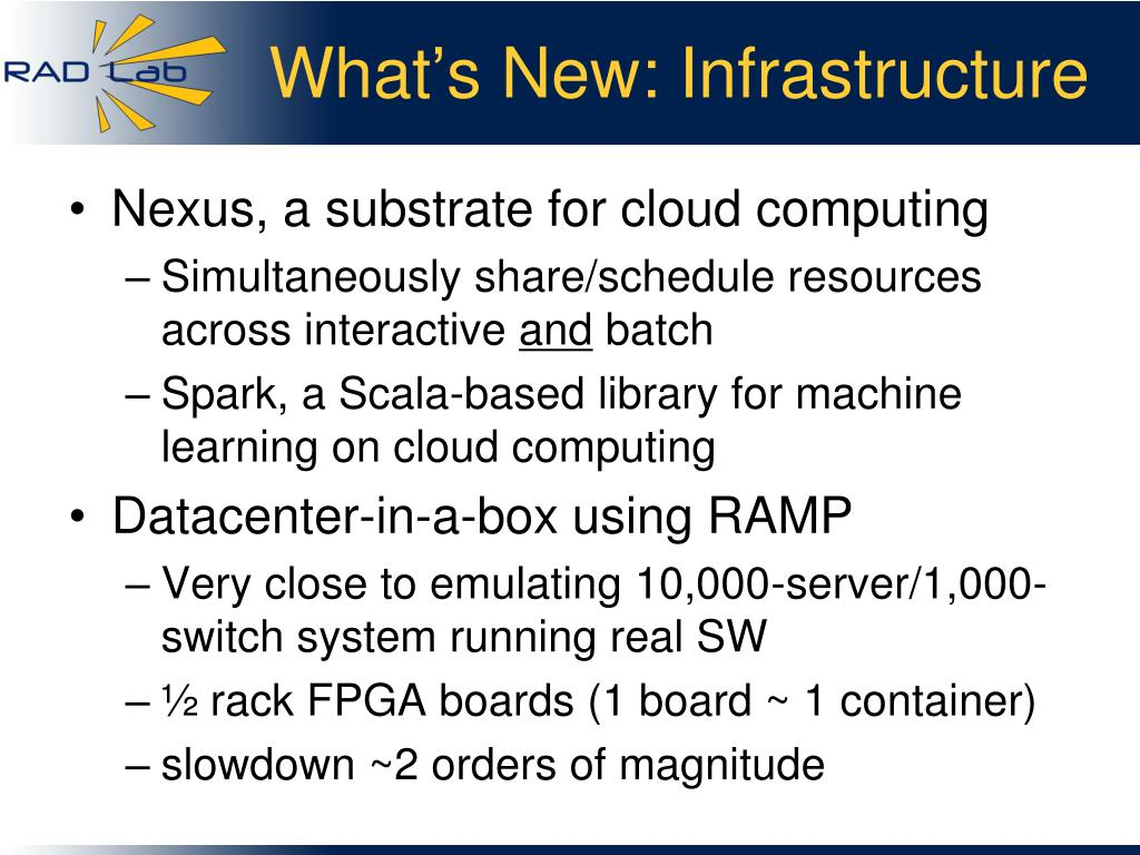 What's New: Infrastructure