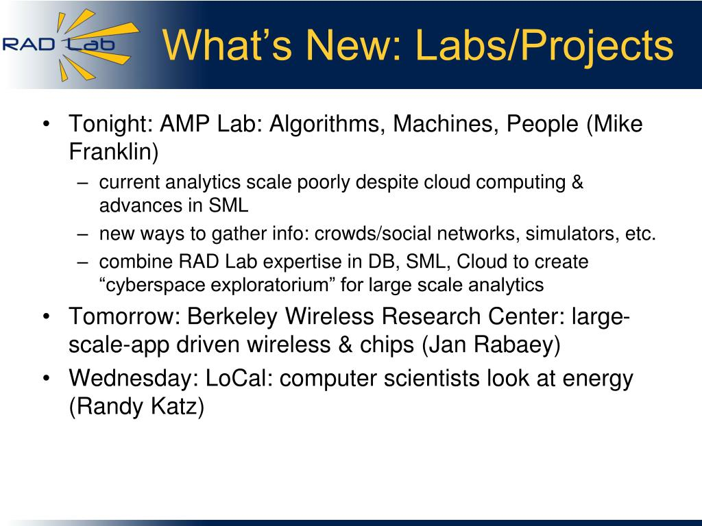 What's New: Labs/Projects