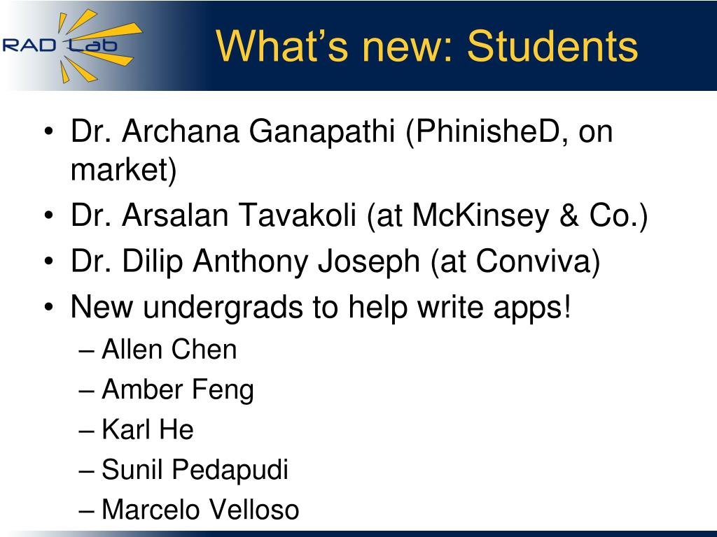What's new: Students