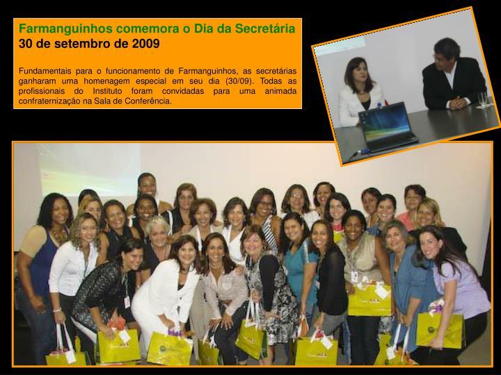 Farmanguinhos comemora o Dia da Secretária
