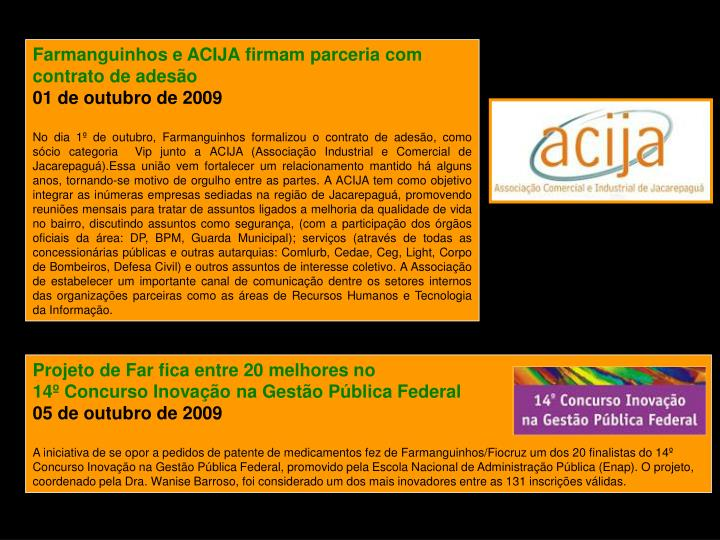 Farmanguinhos e ACIJA firmam parceria com contrato de adesão