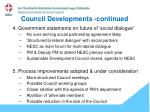 council developments continued1