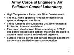 army corps of engineers air pollution control laboratory
