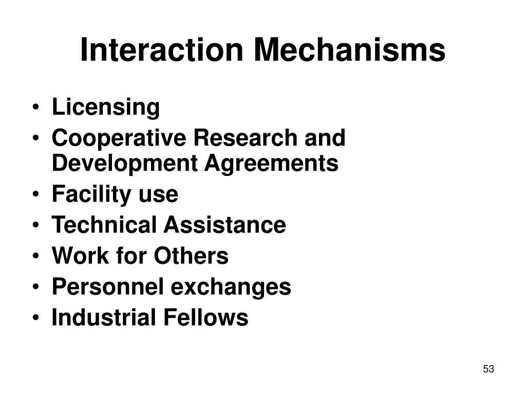 Interaction Mechanisms